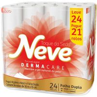 Papel Higienico Neve 30M L24 P21 Neutro Compacto - Cód. 7891172433078C3