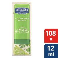 Molho para Salada Hellmanns Limao e Ervas Finas 108x12ml - Cód. 7891150077164