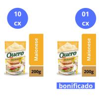 Compre 10 cx (24 un cada) de Maionese Quero 200g e Ganhe 1 cx do mesmo item - Cód. C10900