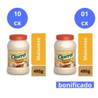Compre 10 cx (12 un cada) de Maionese Quero 495g e Ganhe 1 cx do mesmo item - Cód. C10901