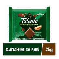 Chocolate Talento Garoto Castanhas do Para 25g - Cód. 78907478C15