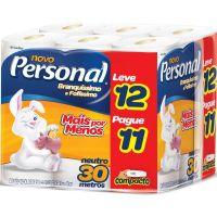 Papel Higienico Personal 30M Lv12 Pg11 Neutro - Cód. 7896110094700C6