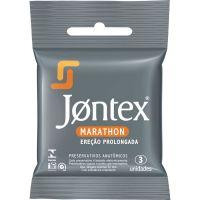 Preservativo Jontex 3Un Lubrifi. Marathon - Cód. 7896222720306C48