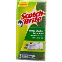 Esponja Scotch Brite Multiuso Com 3 - Cód. 7891040115327C360