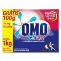 Detergente Em Pó Omo Multiação Pague 900Gr Leve 1Kg - Cód. 7891150018587