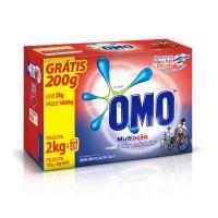 Detergente Em Pó Omo Multiação Leve 2Kg Pague 1,8 Kg - Cód. 7891150038721C9