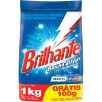 Detergente Em Pó Brilhante Leve 1Kg Pague 900g - Cód. 7891150055100C16