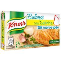 Caldo Knorr Galinha Balance 6 Cubos 57g - Cód. 7891150036567C10