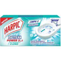 Desodorizador Harpic Pastilha Ades. 2 Em 1 Cloro 3X9 - Cód. 7891035560811C24