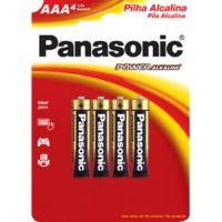 Pilha Panasonic Alcalina 4Un Palito Smasculino - Cód. 7896067201398C48