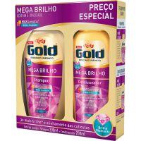 Shampoo Niely 300Ml+Condicionador 200Ml Mega Brilho - Cód. 7896000725264C12