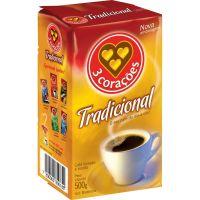 Cafe 3 Coracoes 500G Vacuo Tradicional - Cód. 7896005800188C10