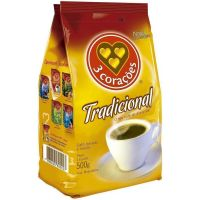 Cafe 3 Coracoes 500G Stand.Pack Tradicional - Cód. 7896005800720C10