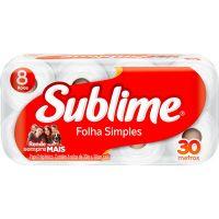Papel Higienico Sublime 8X30M Neutro - Cód. 7896061915208C8