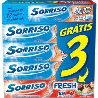Creme Dental Sorriso Dentes Brancos 90G + Sorriso Fresh 90G - Cód. 7891528020662C4