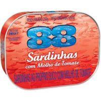 Sardinha 88 250G Tomate - Cód. 7891167023109C48