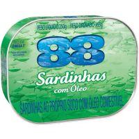 Sardinha 88 250G Oleo - Cód. 7891167023093C48