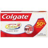 Creme Dental Colgate Total 12 Clean Mint 90G 2Un 50% 2ª - Cód. 7891024031865C6