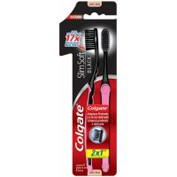 Escova Dental Colgate Slim Soft Black Macia 2Un Lv 2 Pg 1 - Cód. 7509546061689C12