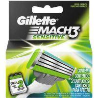 Carga Gillette Mach 3 sensitive 2 unidades - Cód. 7702018037865C12