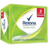Sabonete Rexona 84G 3Un Bamboo Fresh - Cód. 7891150046375C36