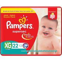 Fralda Pampers Supersec Pacotao XG 22un - Cód. 7506295345558C6
