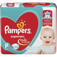 Fralda Pampers Supersec Pacotao P 34Un - Cód. 7500435132718C4