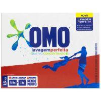 Detergente em Po Ativo Concentrado Omo Lavagem Perfeita Caixa 1,6Kg - Cód. 7891150064331C9