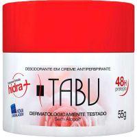 Desodorante Tabu Creme 55g Tradicional - Cód. 7896049508514C12