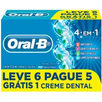 Creme dental oral-b 4 em 1 70 gramas pack leve 6 pague 5 - Cód. 7500435122788