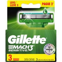 Carga Gillette Mach3 Sensitive Leve 3 Paque 2 - Cód. 7500435114479C3
