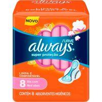 Absorvente Always Basico 8un com abas suave - Cód. 7500435127240C18