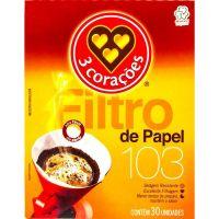 Filtro De Papel 3 Coracoes 30Un 103 - Cód. 7896005803721C40