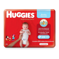 Fralda Huggies Supreme Care P 28un - Cód. 7896007548507C9