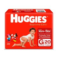 Fralda Huggies Supreme Care G 20un - Cód. 7896007548378C9