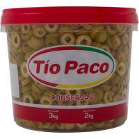 Azeitona Tio Paco Vde 2Kg Fatiada Bd - Cód. 7898174850247