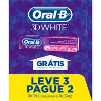 Creme Dental Oral-B 3D White 70G L3P2 - Cód. 7506339398236C12