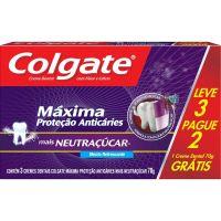 Creme Dental Colgate Máx. Proteção Anticáries + Neutraçucar 70g Promo Leve 3 Pague 2 - Cód. 7891024032732C24