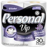 Papel Higienico Personal Vip 4X30M Lavanda - Cód. 7896110003900C16