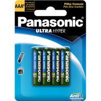 Pilha Panasonic Ultra Hiper 4Un Aaa - Cód. 7896067203033C100