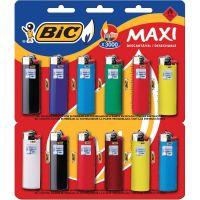 Isqueiro Bic Maxi Cartela Com 12 Unidades - Cód. 70330631335