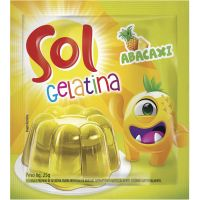 GELATINA SOL 25G ABACAXI - Cód. 7896005217818C60