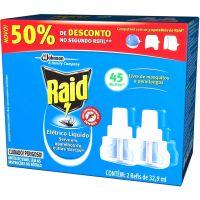 Inseticida Eletrico Raid Liquido Refil Com 2Un Para 45 Noites - Cód. 7894650004029C12