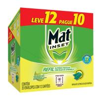 Inseticida Eletrico Mat Inset Pastilha Refil Citronela P10 L12 - Cód. 7897664168428C20