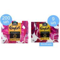 Compre 200 un Detergente em Pó Comfort Fiber Protect 800g Ganhe 9 un Detergente em Po Comfort Fiber Protect 1.6kg - Cód. C5500