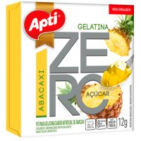 Gelatina em Po Zero Acucar Apti Abacaxi 12G - Cód. 7896327513933C12