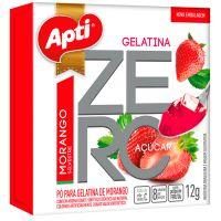 Gelatina em Po Zero Acucar Apti Morango 12G - Cód. 7896327513919C12