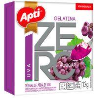 Gelatina em Po Zero Acucar Apti Uva 12G - Cód. 7896327513940C12