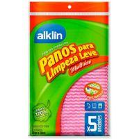 Pano Alklin Para Limpeza Leve Rosa 33X50 Com 5 Un - Cód. 7897750770061C24