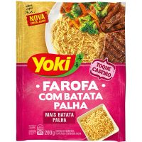 Farofa Mandioca Pronta Yoki Com Batata Palha 200G - Cód. 7891095030057C12